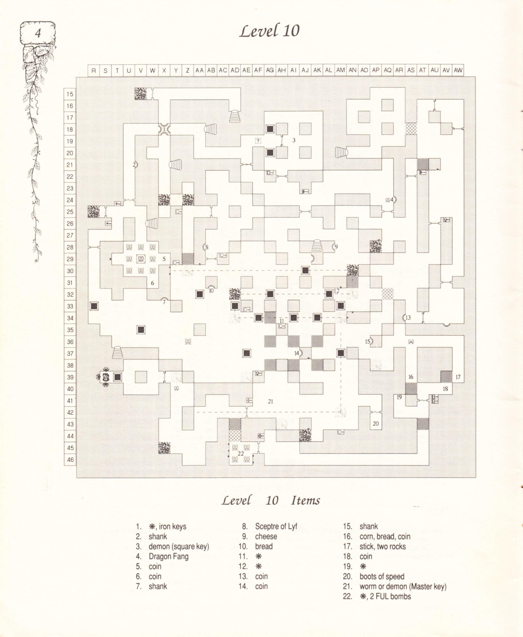 Hint Book - Pat Mullen's Maps, Lists, And Answers For Chaos Strikes Back - US - Page 008 - Scan