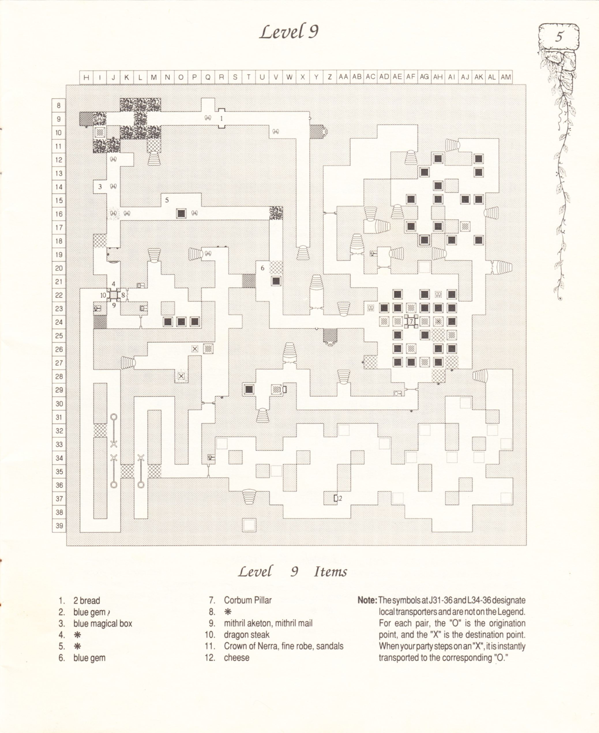 Hint Book - Pat Mullen's Maps, Lists, And Answers For Chaos Strikes Back - US - Page 009 - Scan