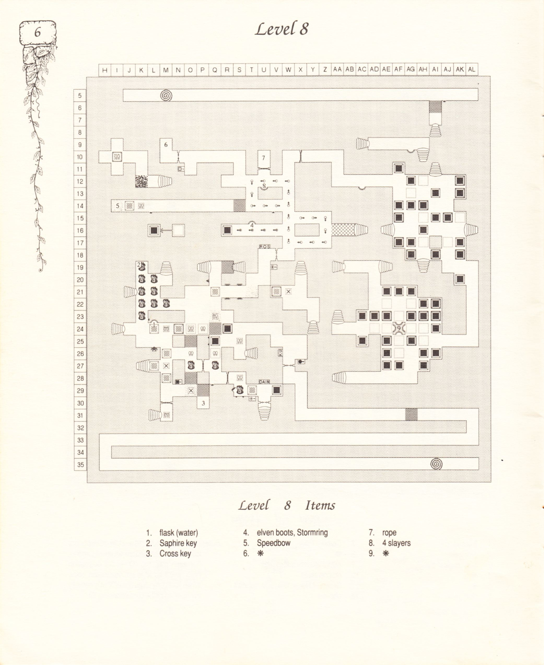 Hint Book - Pat Mullen's Maps, Lists, And Answers For Chaos Strikes Back - US - Page 010 - Scan