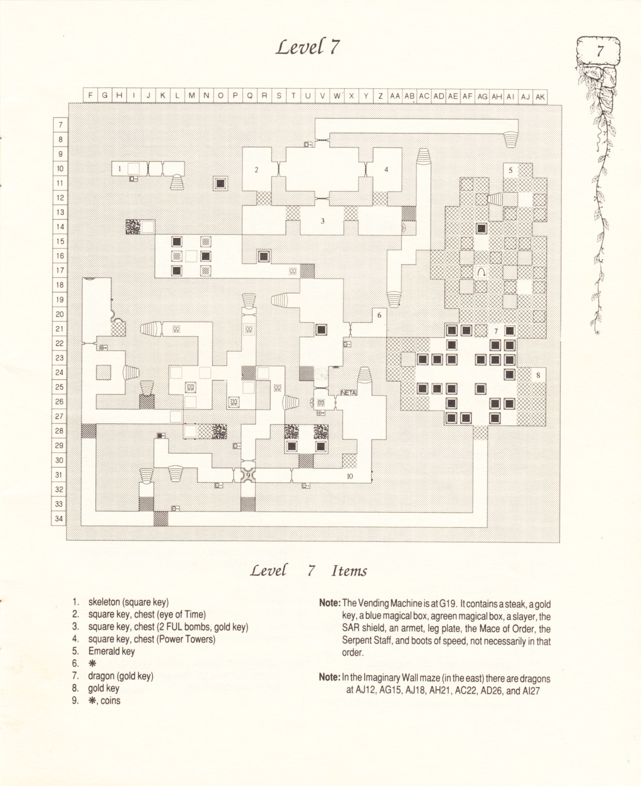 Hint Book - Pat Mullen's Maps, Lists, And Answers For Chaos Strikes Back - US - Page 011 - Scan