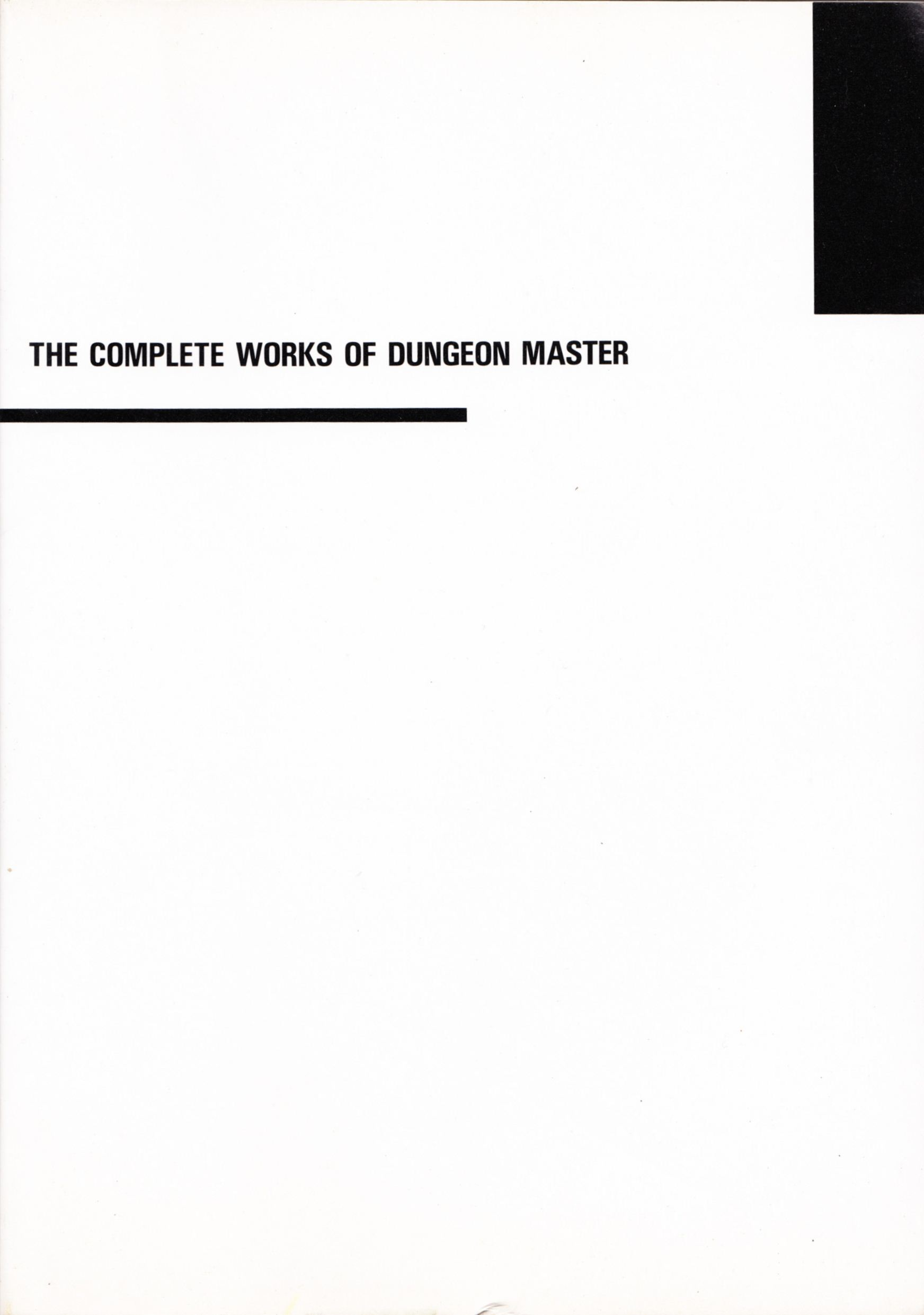 Hint Book - The Complete Works Of Dungeon Master - JP - Cover - Front - Scan