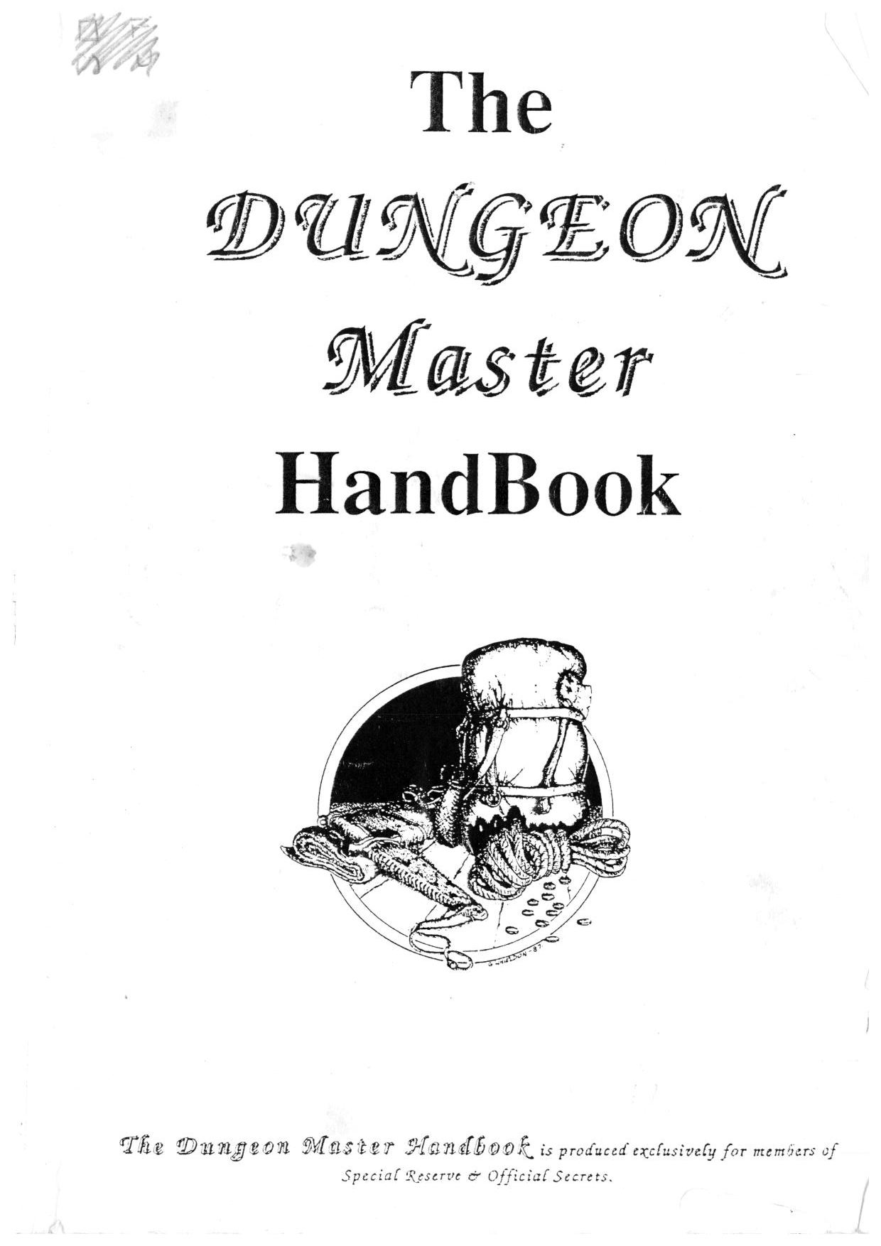 Hint Book - The Dungeon Master HandBook - UK - Page 001 - Scan