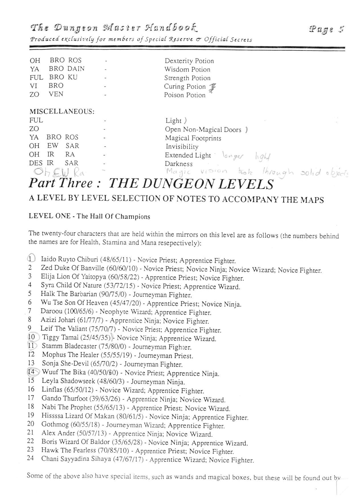 Hint Book - The Dungeon Master HandBook - UK - Page 006 - Scan