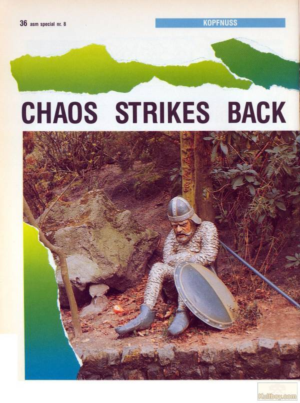 Chaos Strikes Back Hints published in German magazine 'ASM', August 1990, Page 36