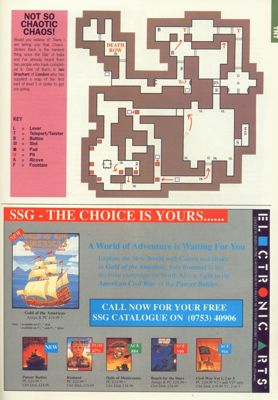 Chaos Strikes Back Hints published in British magazine 'Advanced Computer Entertainment', Issue #30 March 1990, Page 79