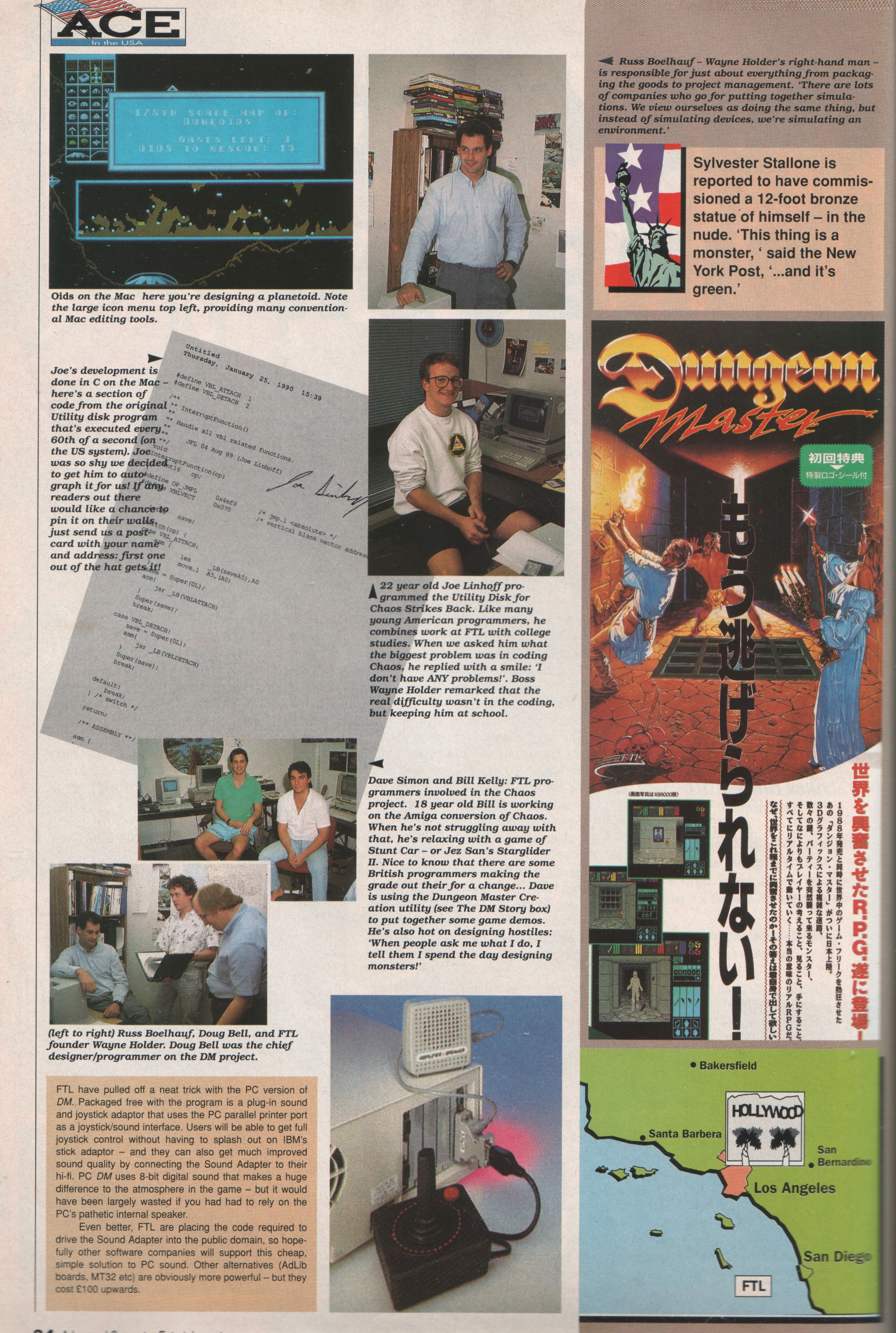 FTL Article published in British magazine 'Advanced Computer Entertainment', Issue #31 April 1990, Page 34