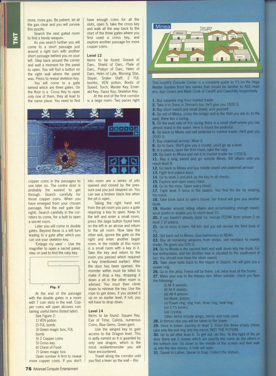Dungeon Master Guide published in British magazine 'Advanced Computer Entertainment', Issue #32 May 1990, Page 76