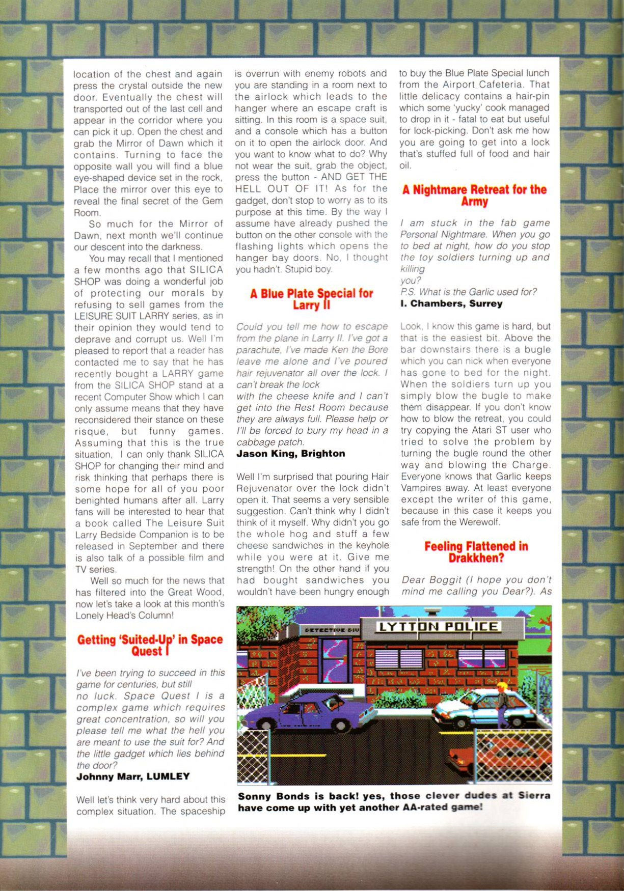 Dungeon Master Article published in British magazine 'Amiga Action', Issue #12 September 1990, Page 14