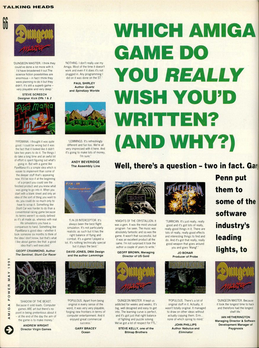 Dungeon Master Article published in British magazine 'Amiga Power', Issue #1 May 1991, Page 66