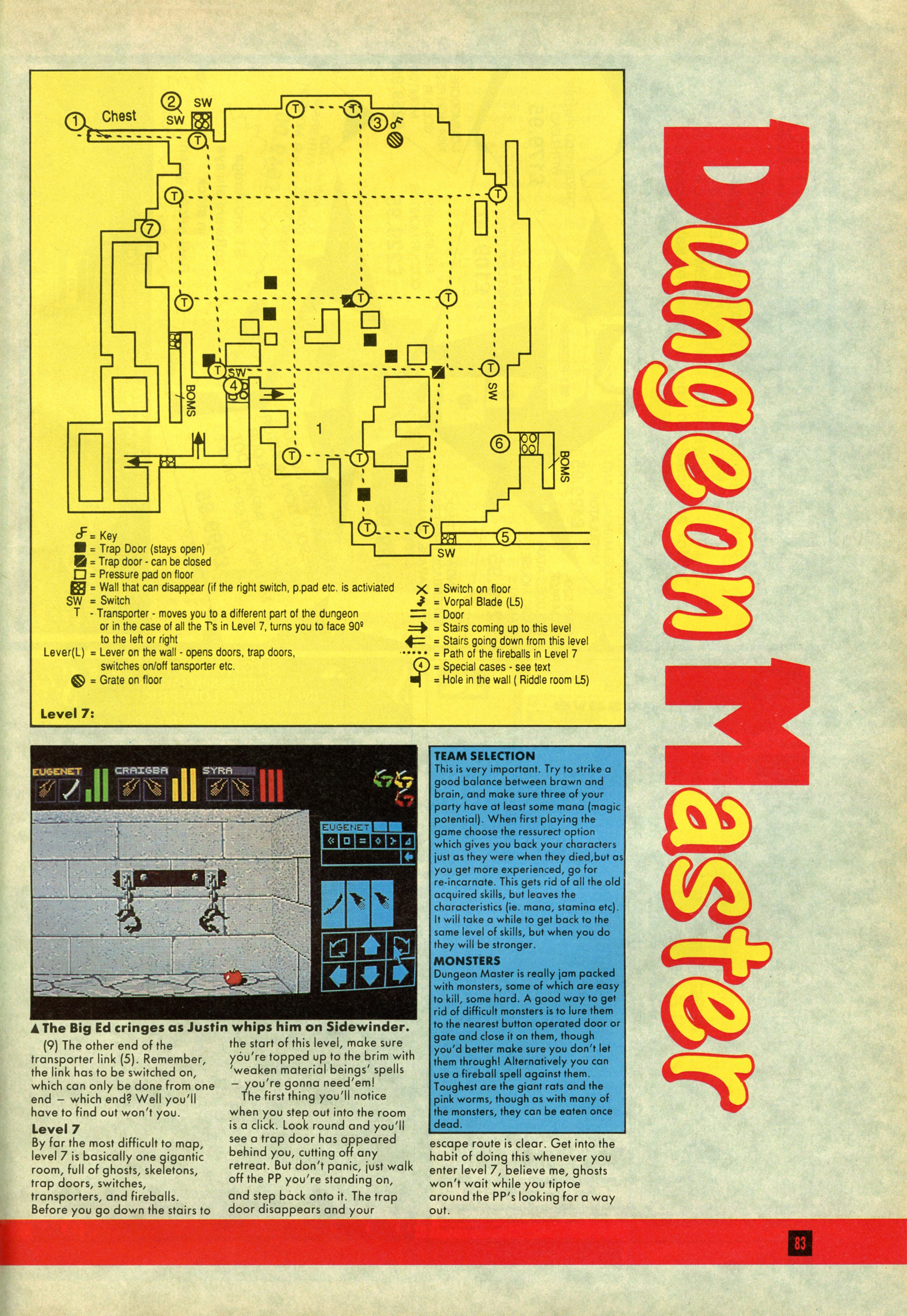 Dungeon Master Guide published in British magazine 'Computer And Video Games', Issue #81 July 1988, Page 83