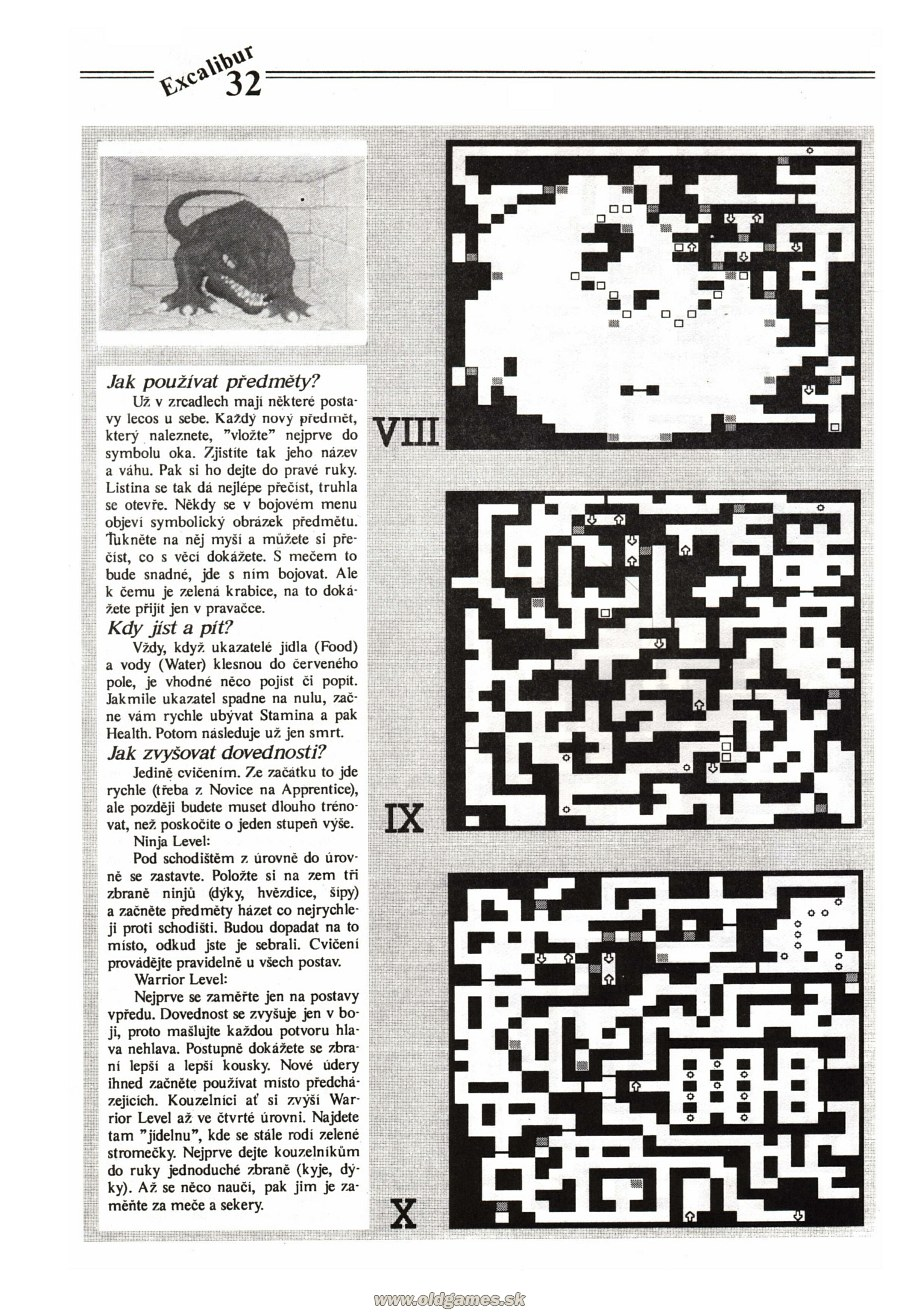 Dungeon Master Guide published in Czech magazine 'Excalibur', Issue #4 July 1991, Page 32