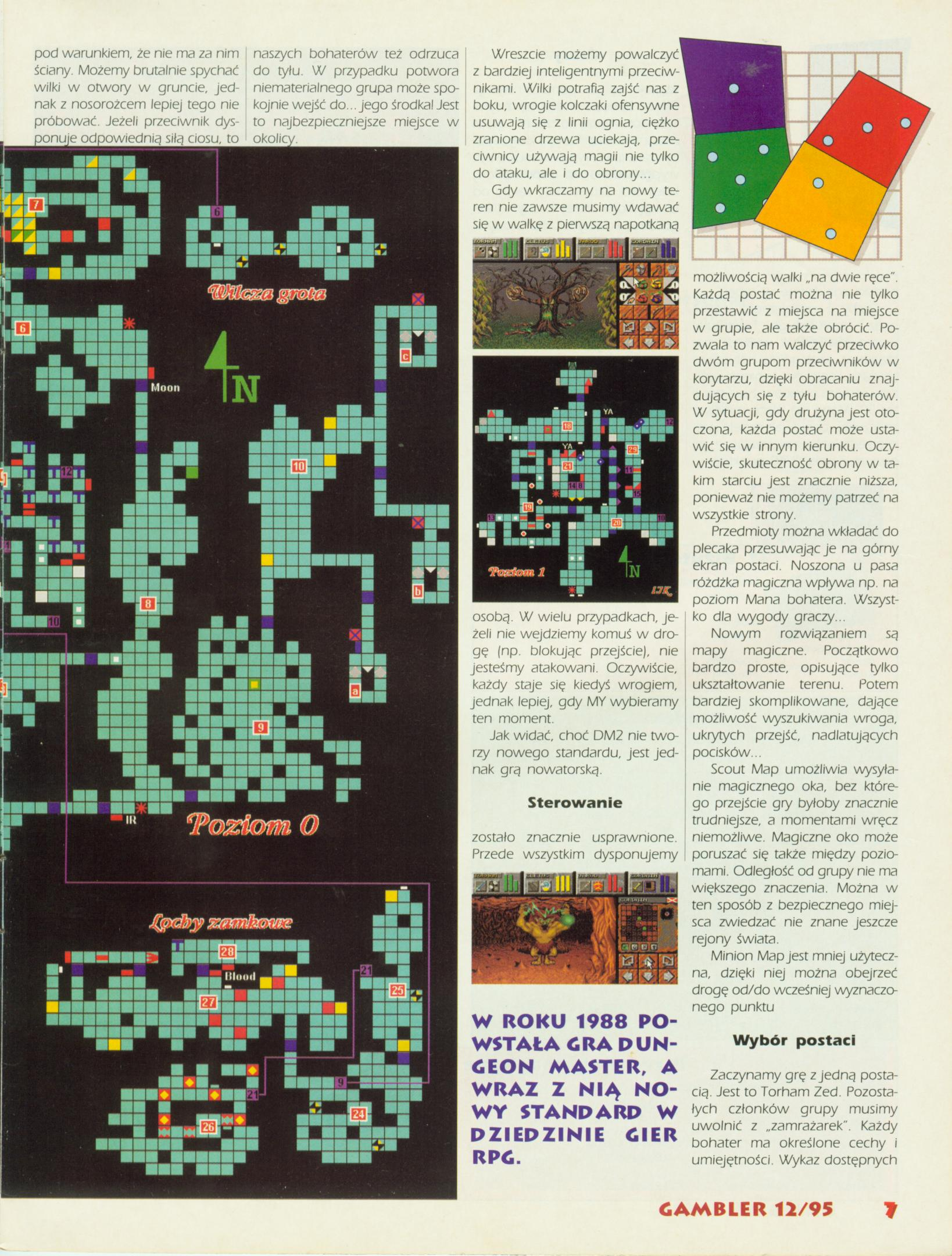 Dungeon Master II Guide published in Polish magazine 'Gambler', December 1995, Page 7