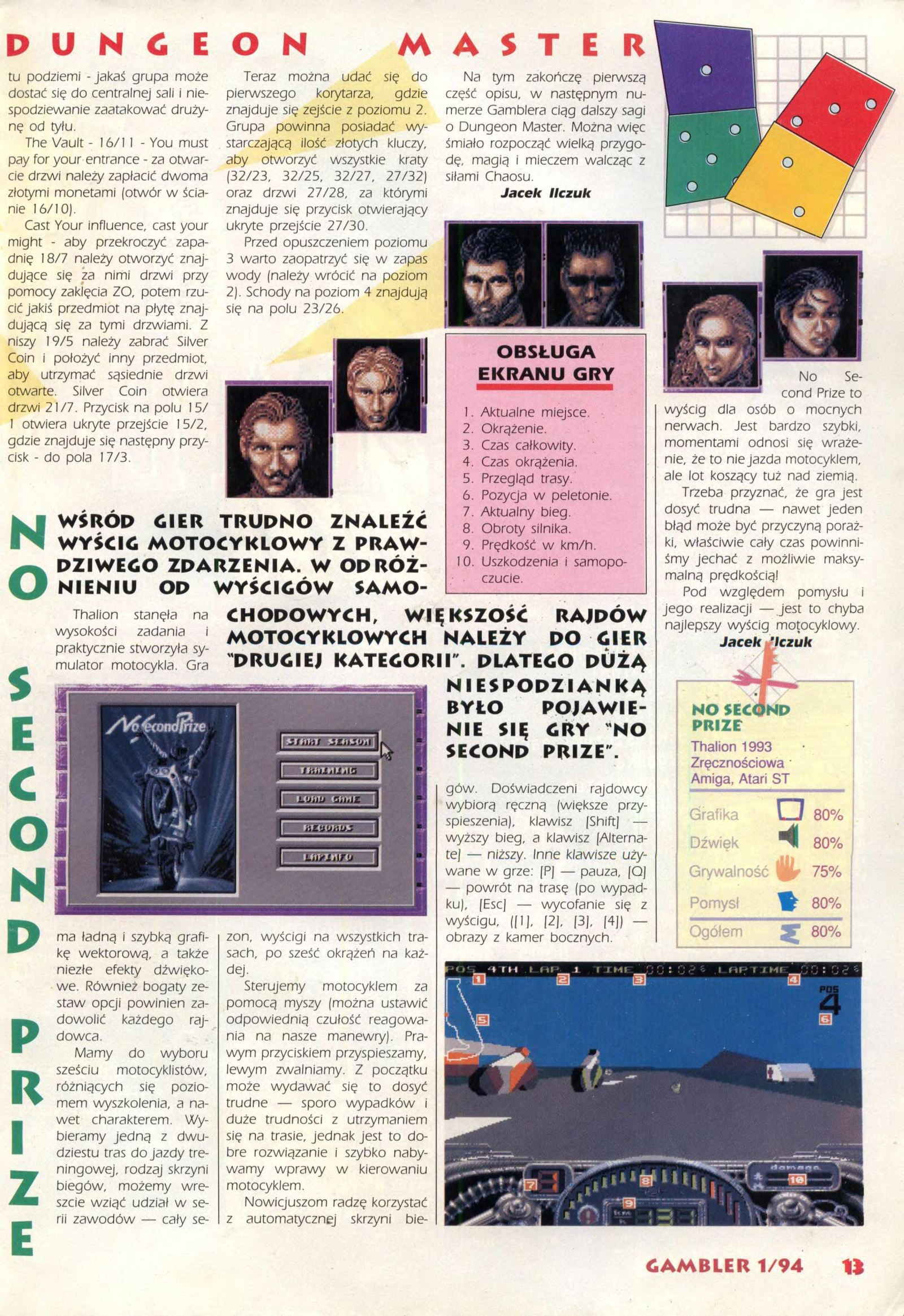 Dungeon Master Guide published in Polish magazine 'Gambler', January 1994, Page 13