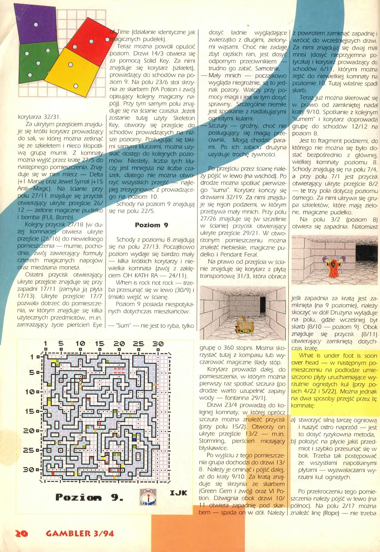 Dungeon Master Guide published in Polish magazine 'Gambler', March 1994, Page 20
