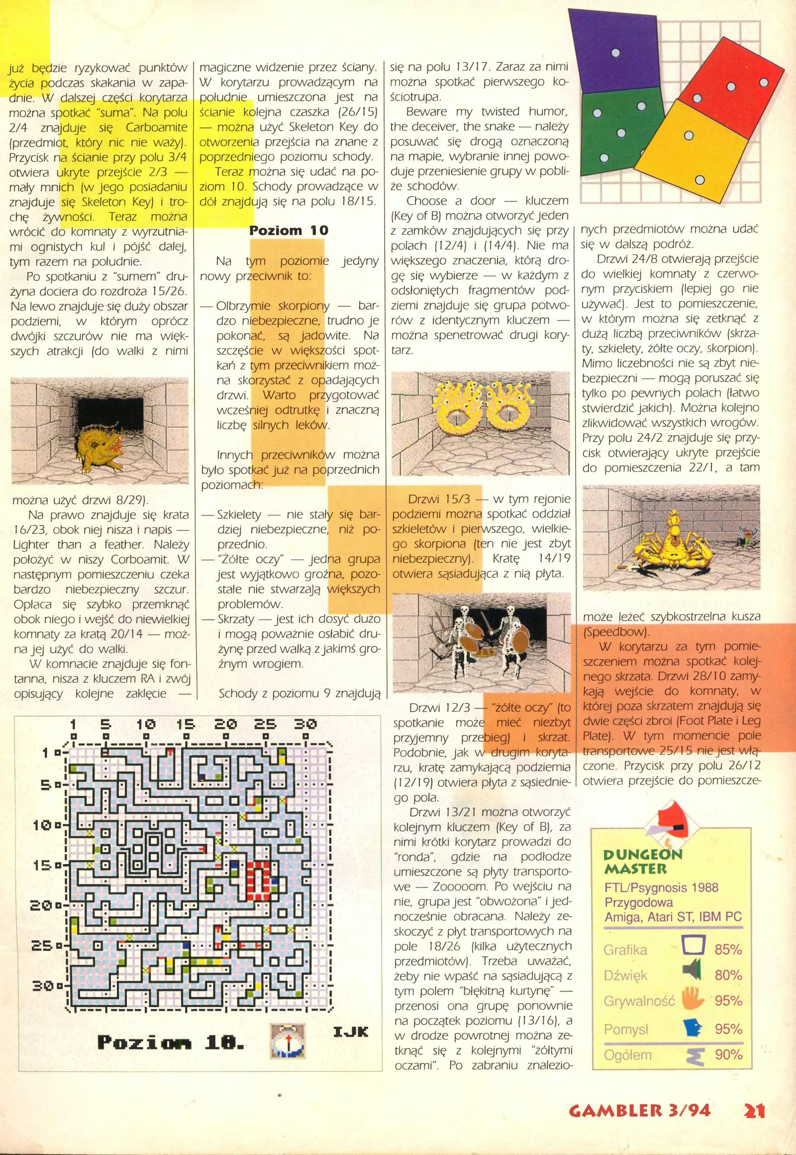 Dungeon Master Guide published in Polish magazine 'Gambler', March 1994, Page 21