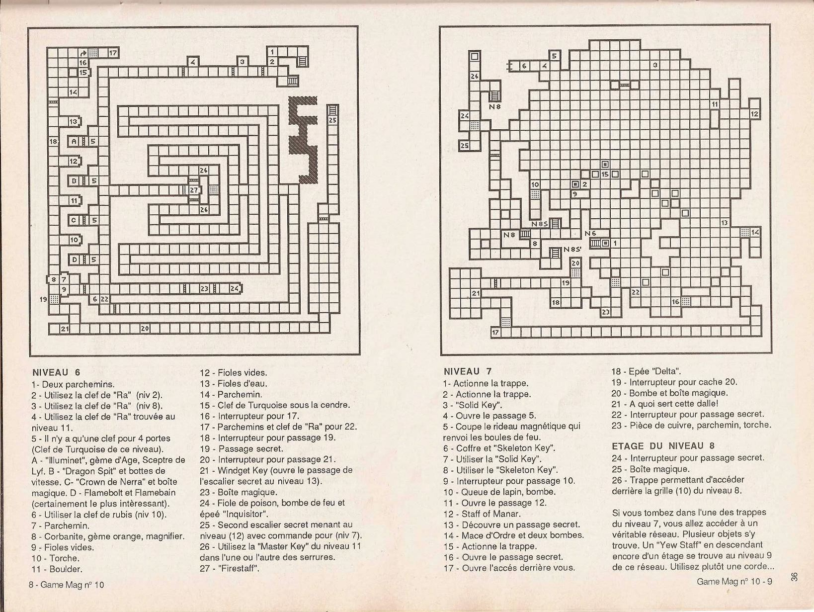 Dungeon Master Guide published in French magazine 'Game Mag', Issue #10 September 1988, Page 36