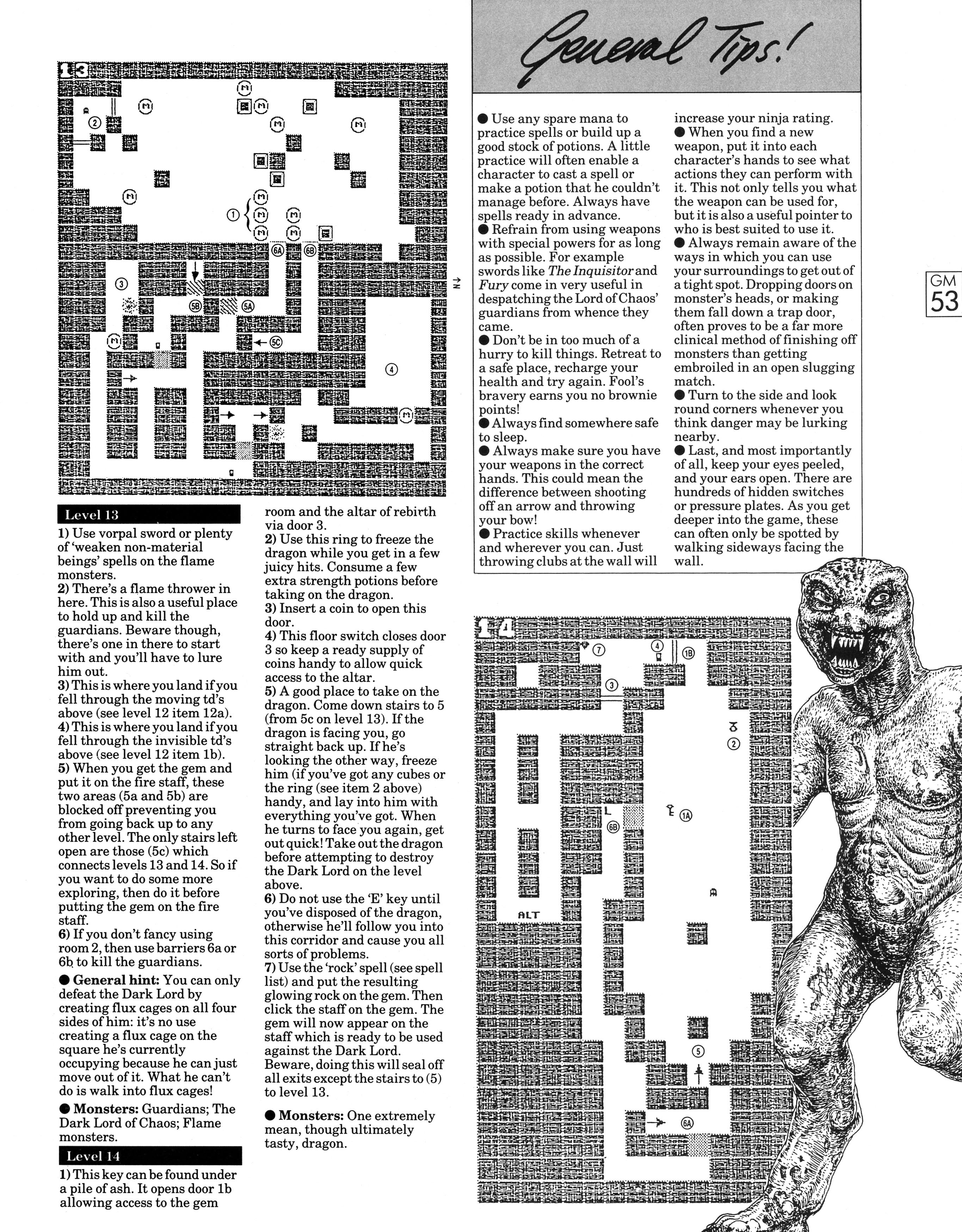 Dungeon Master Guide published in British magazine 'Game Master', Vol 1 No 3 November 1988, Page 53