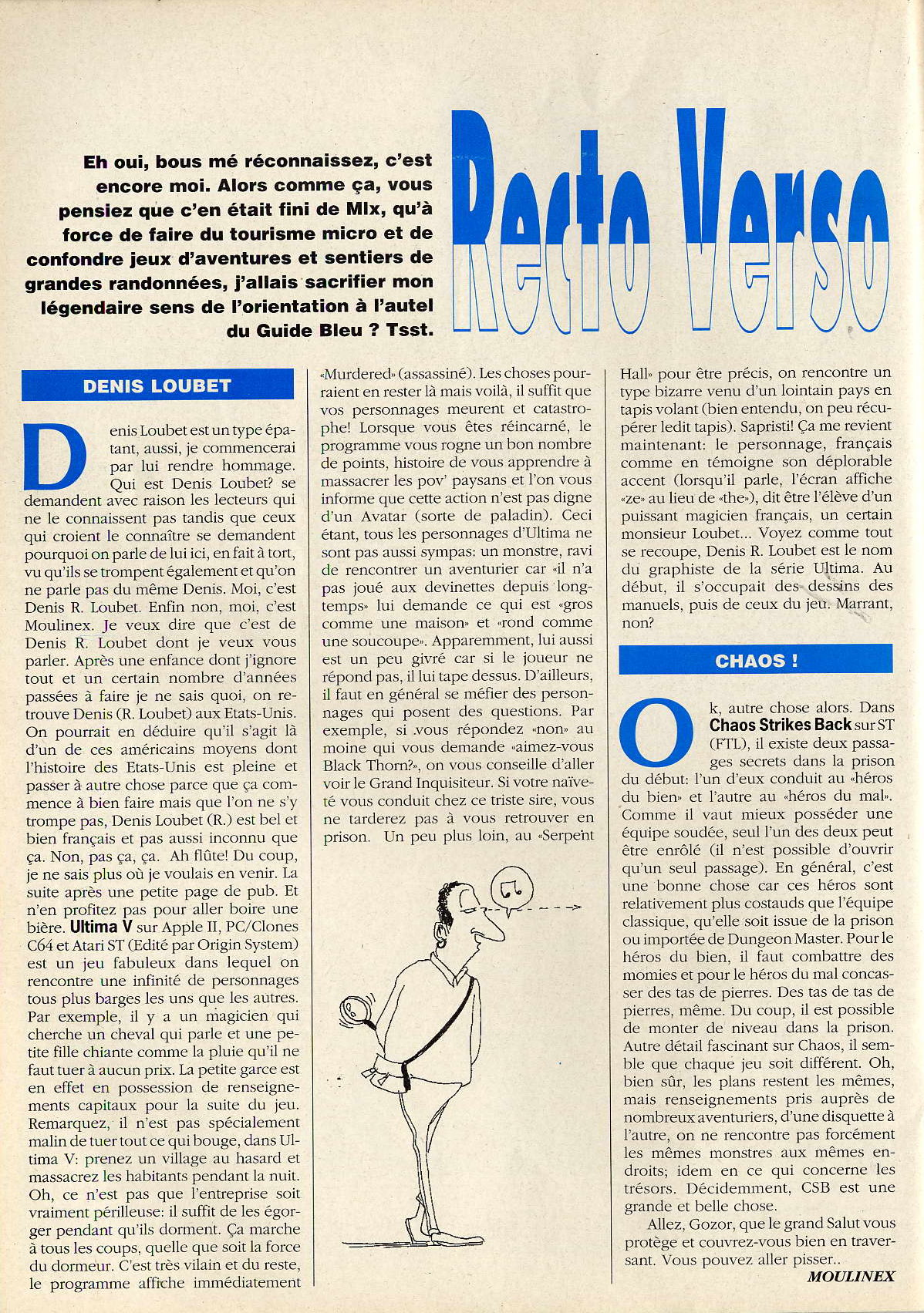 Chaos Strikes Back Hints published in French magazine 'Joystick', Issue #4 April 1990, Page 74