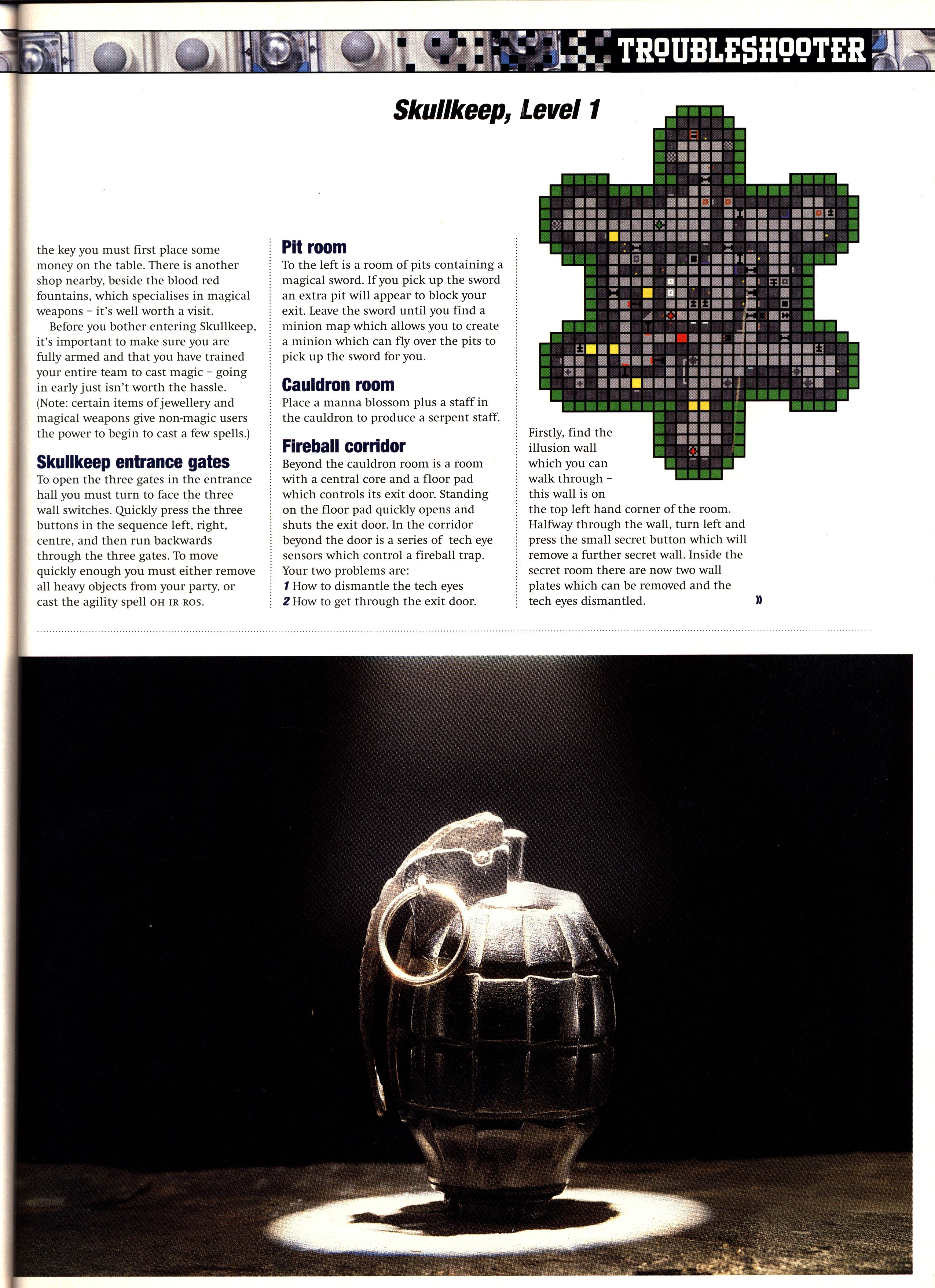 Dungeon Master II Guide published in British magazine 'PC Zone', Issue #33 December 1995, Page 149