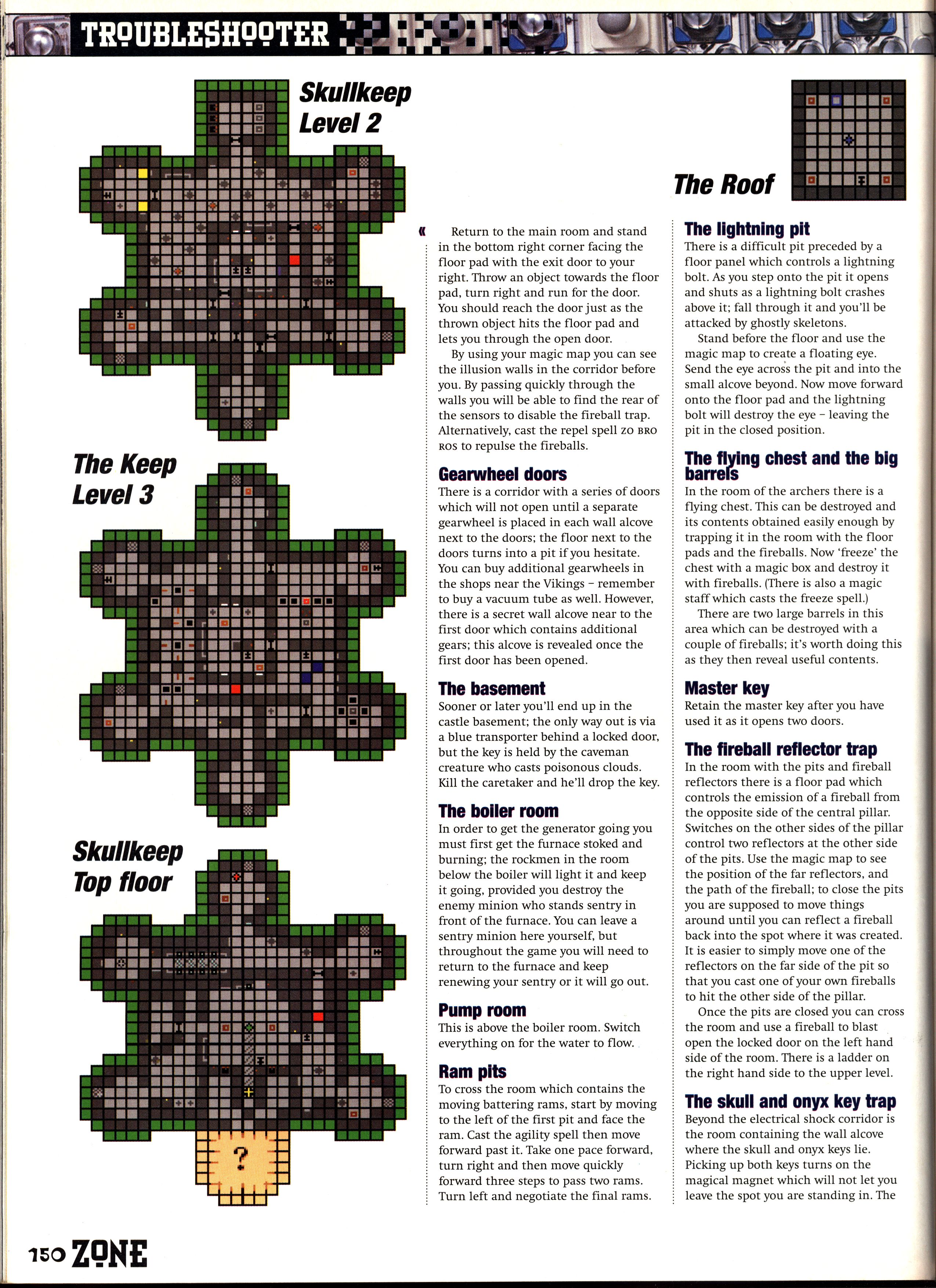Dungeon Master II Guide published in British magazine 'PC Zone', Issue #33 December 1995, Page 150
