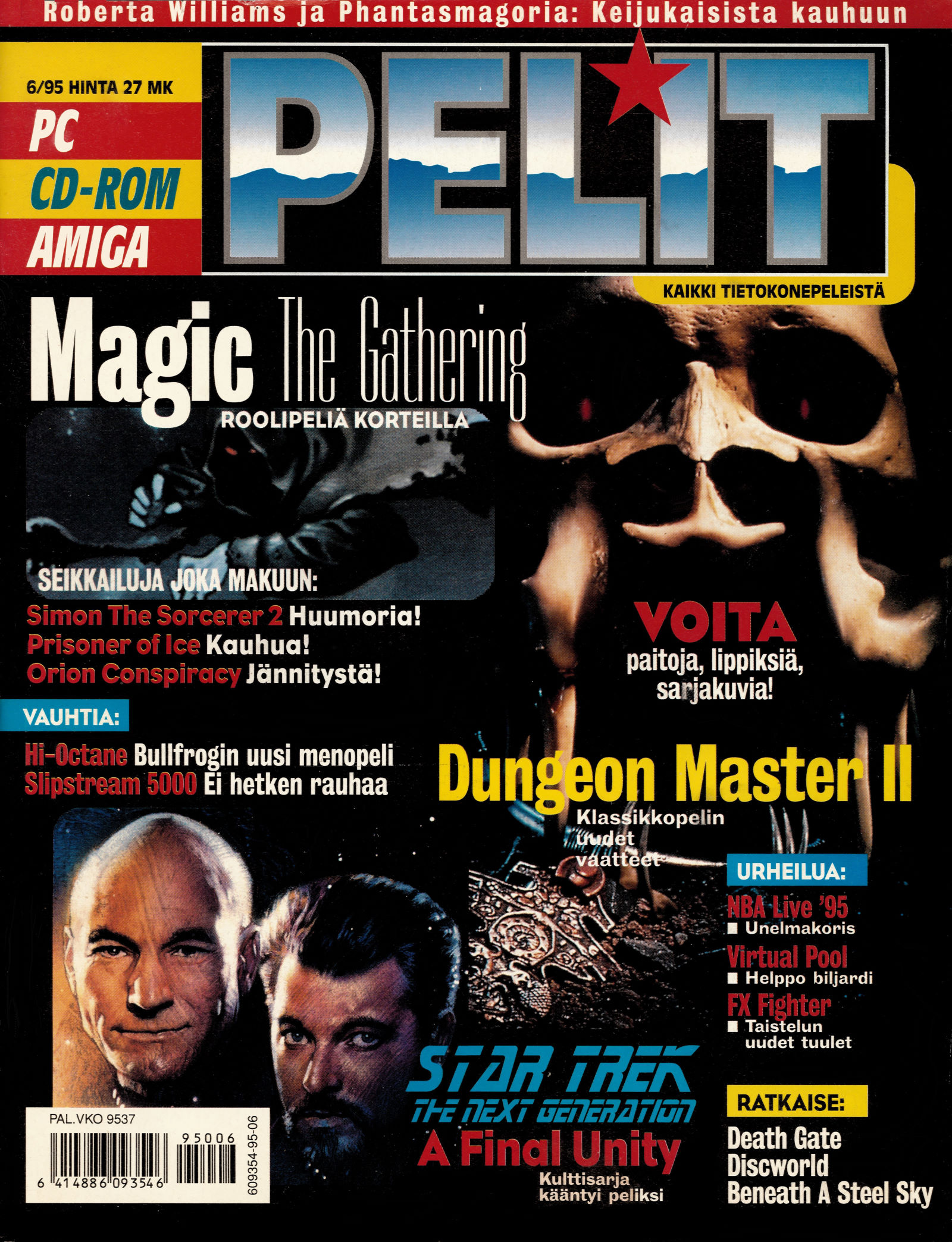 Dungeon Master II for PC-Amiga Cover published in Finnish magazine 'Pelit', June 1995, Page -