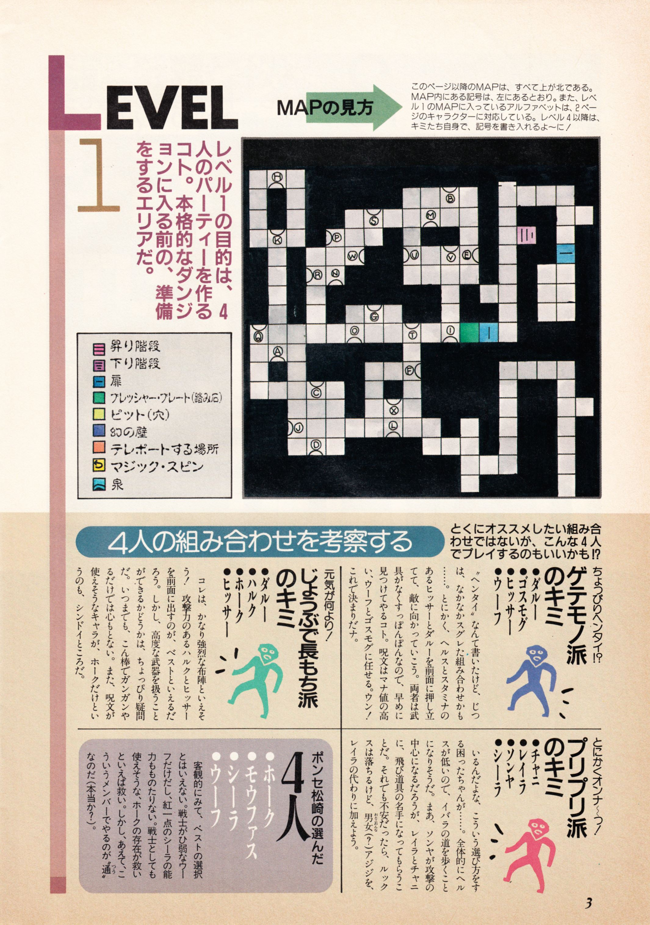 Supplement - Dungeon Master Companion Manual Guide published in Japanese magazine 'Popcom', Vol 4 No 1 01 April 1990, Page 5