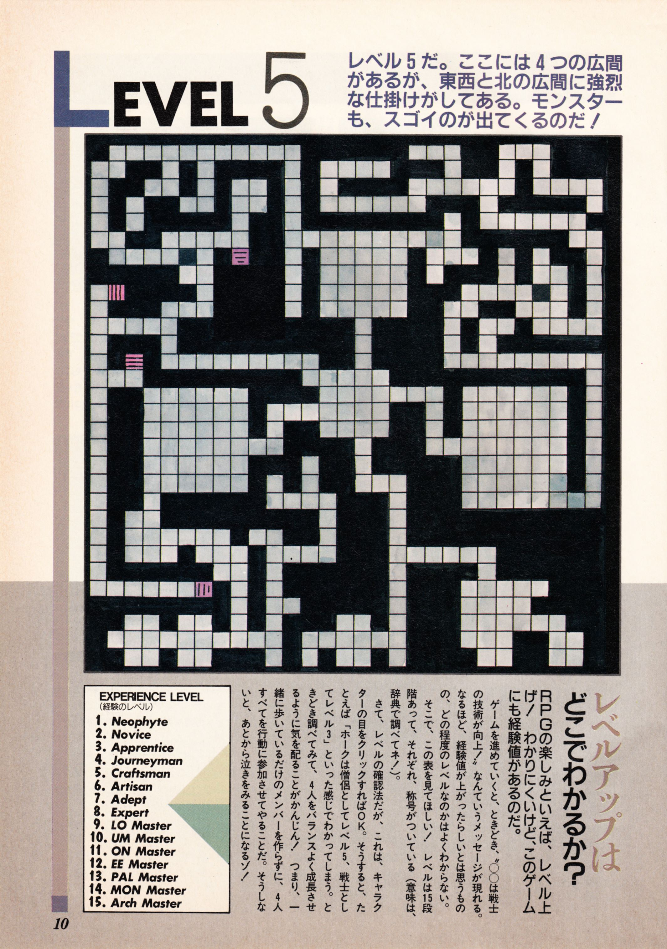 Supplement - Dungeon Master Companion Manual Guide published in Japanese magazine 'Popcom', Vol 4 No 1 01 April 1990, Page 12