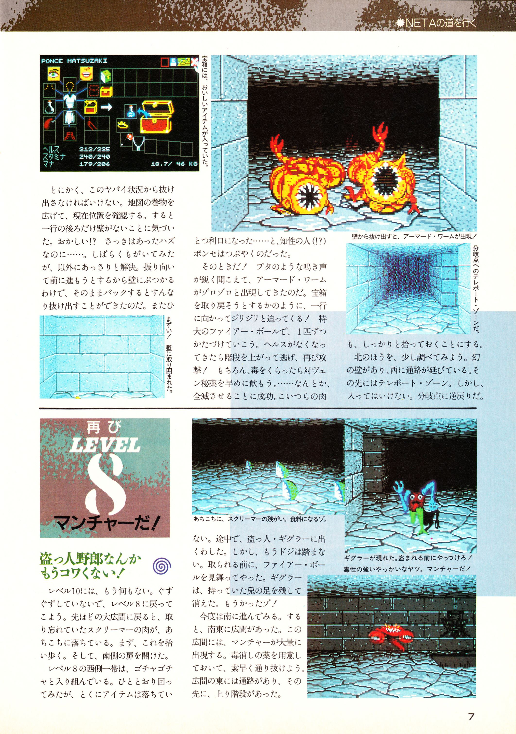 Supplement - Chaos Strikes Back Companion Guide II Guide published in Japanese magazine 'Popcom', Vol 9 No 3 01 March 1991, Page 9