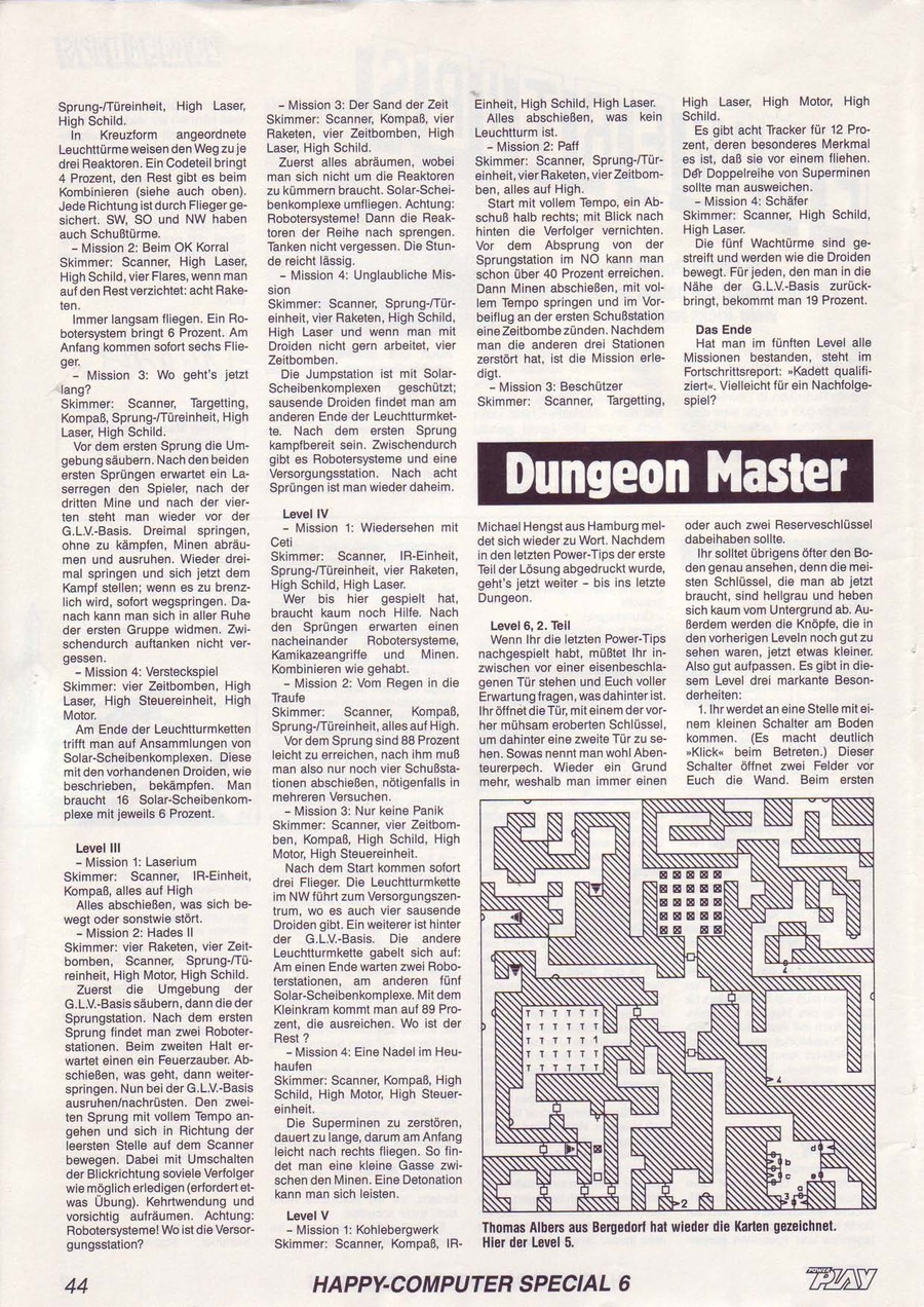 Dungeon Master Guide published in German magazine 'Power Play', June 1988, Page 44