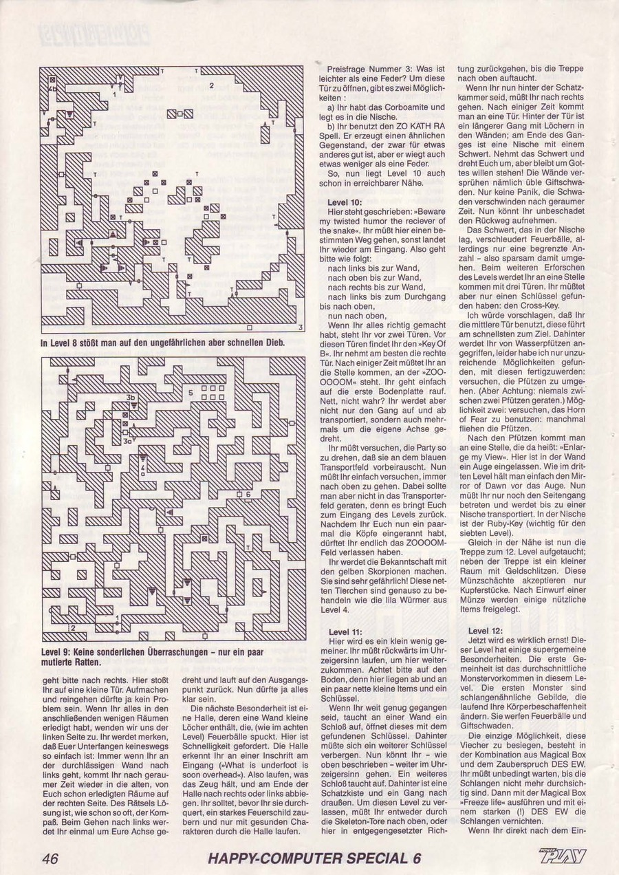 Dungeon Master Guide published in German magazine 'Power Play', June 1988, Page 46