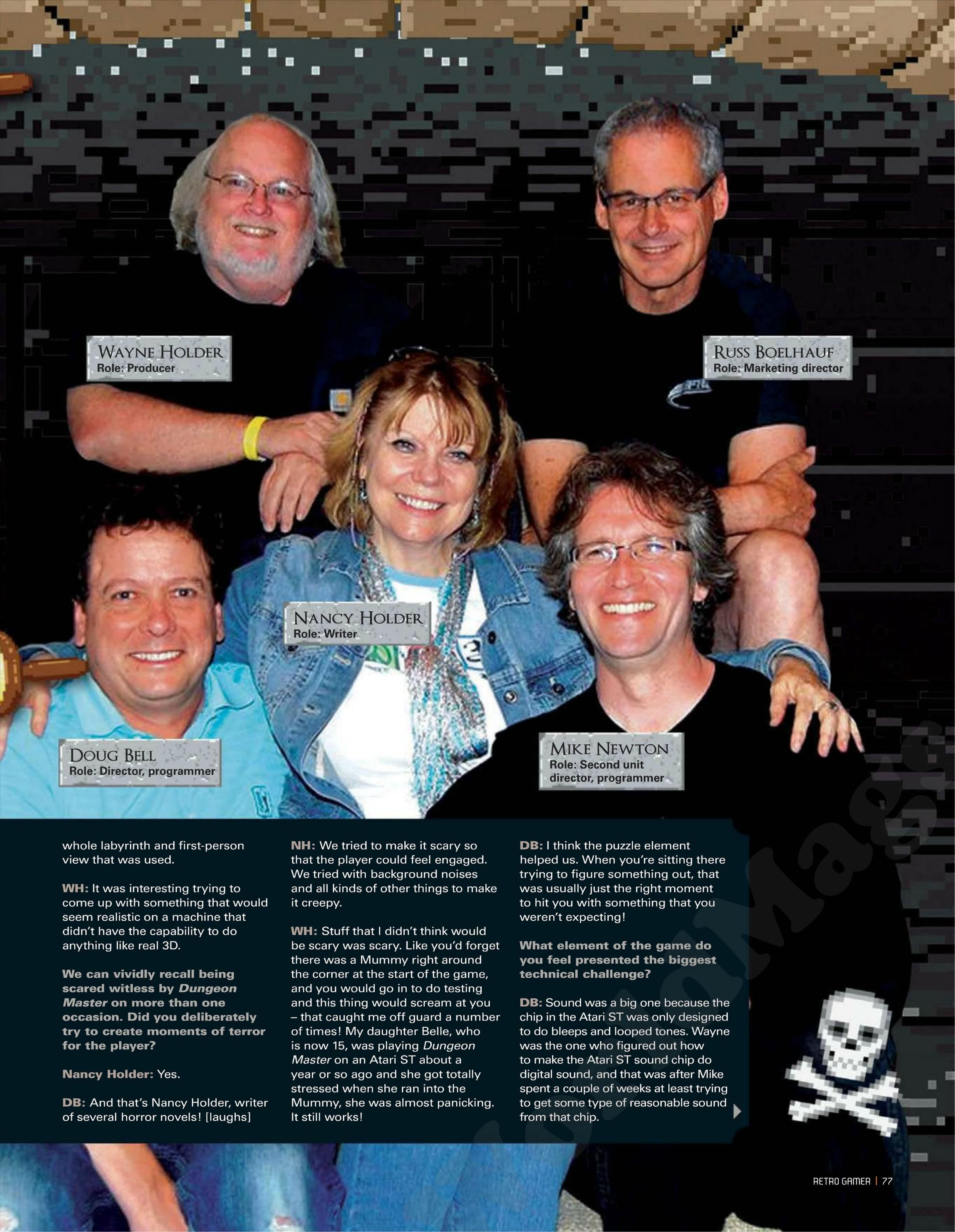 Dungeon Master Game Series Article published in British magazine 'Retro Gamer', Issue #105 July 2012, Page 77