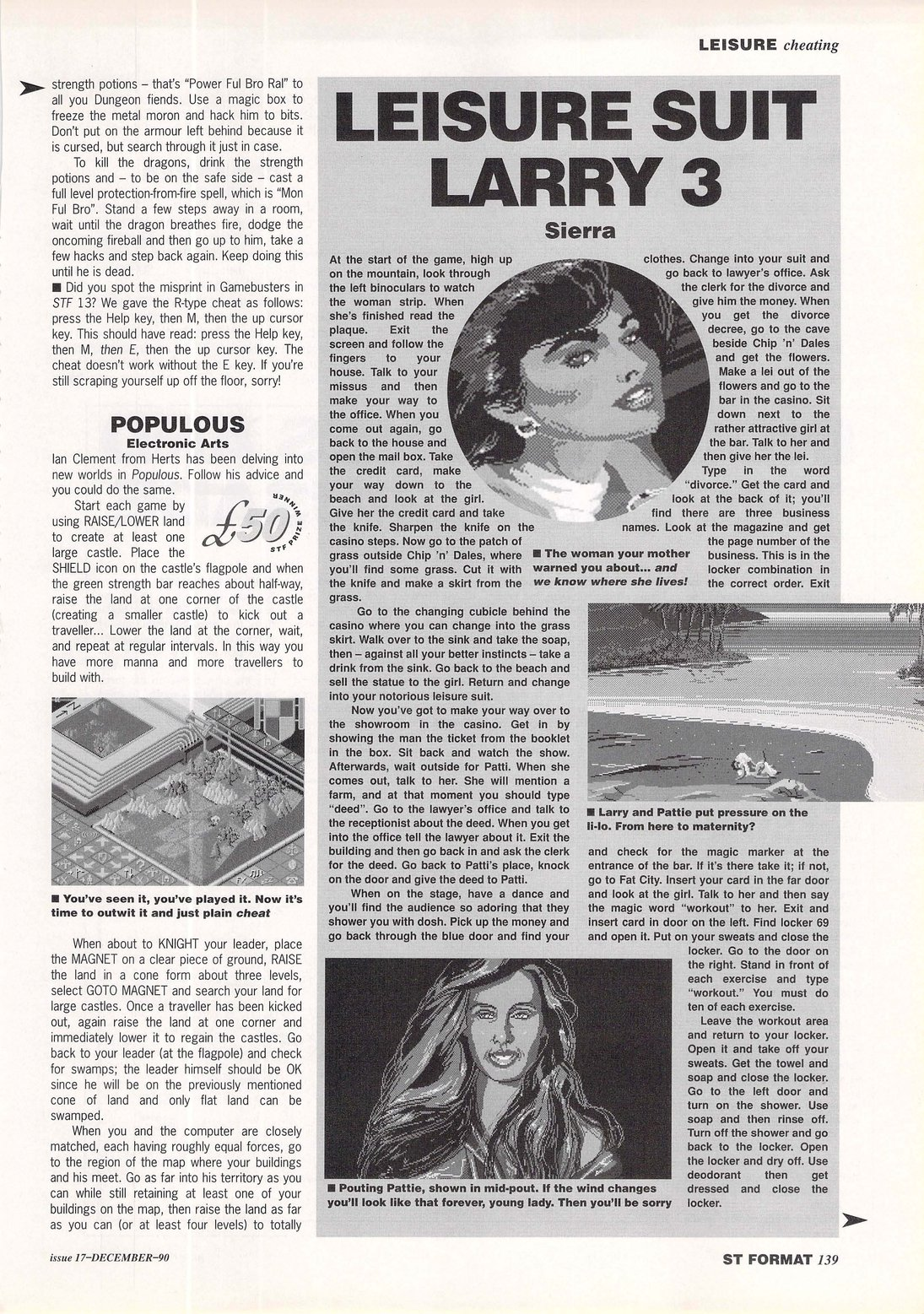 Chaos Strikes Back Hints published in British magazine 'ST Format', Issue #17 December 1990, Page 139