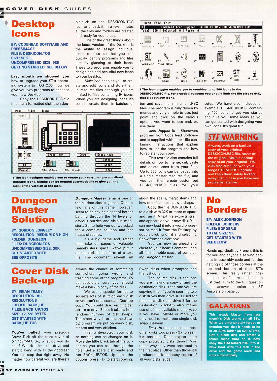 Dungeon Master Hints published in British magazine 'ST Format', Issue #48 July 1993, Page 16