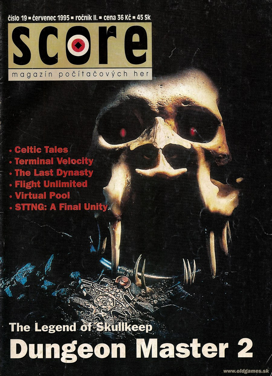 Dungeon Master II Cover published in Czech magazine 'Score', Issue #19 July 1995, Page 1