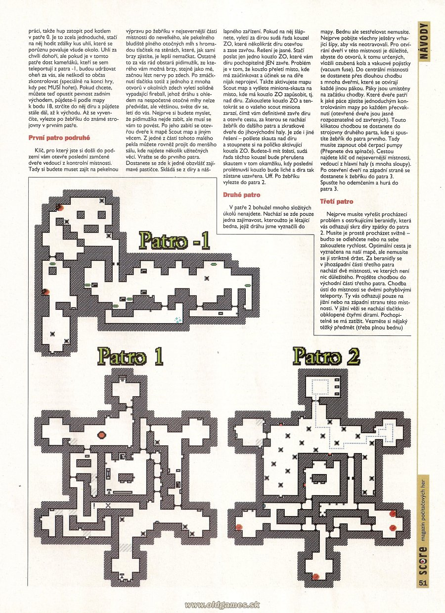 Dungeon Master II for PC Guide published in Czech magazine 'Score', Issue #21 September 1995, Page 51