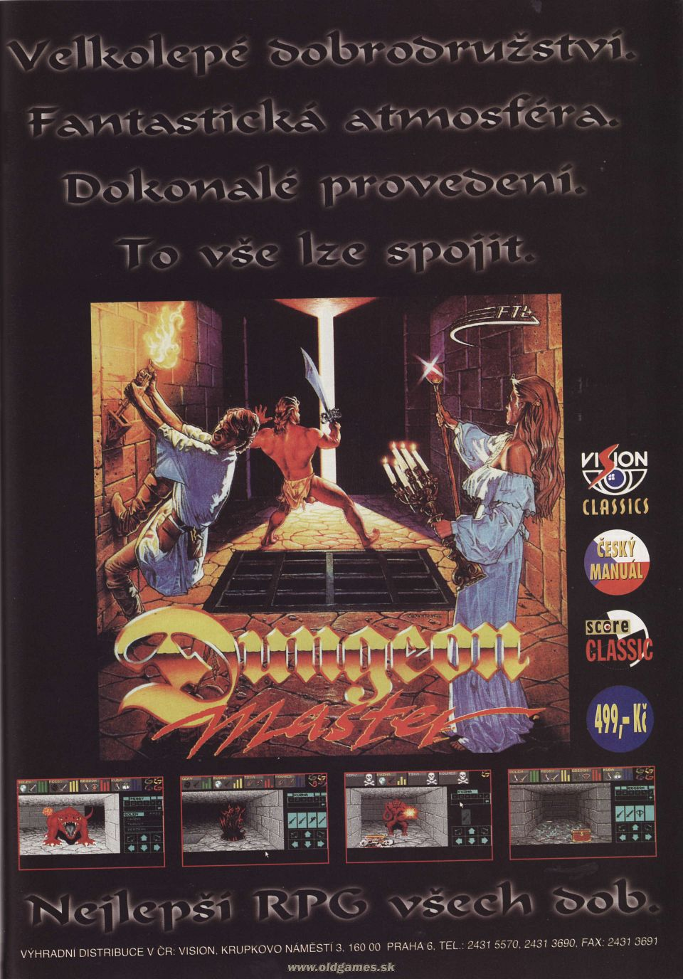 Dungeon Master Advertisement published in Czech magazine 'Score', Issue #33 September 1996, Page 53