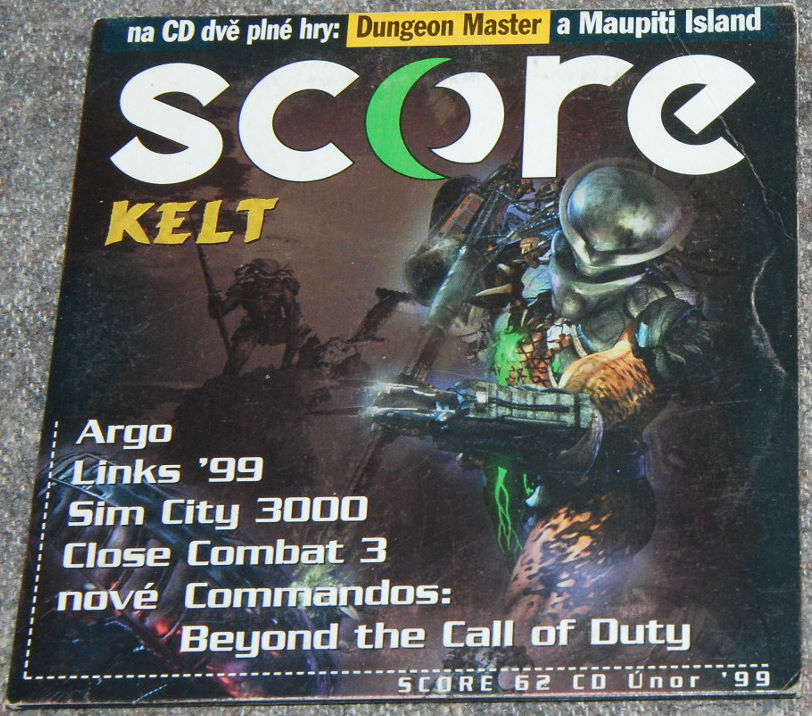 Dungeon Master for PC Compact Disc Sleeve Front published in Czech magazine 'Score', Issue #62 February 1999, Page