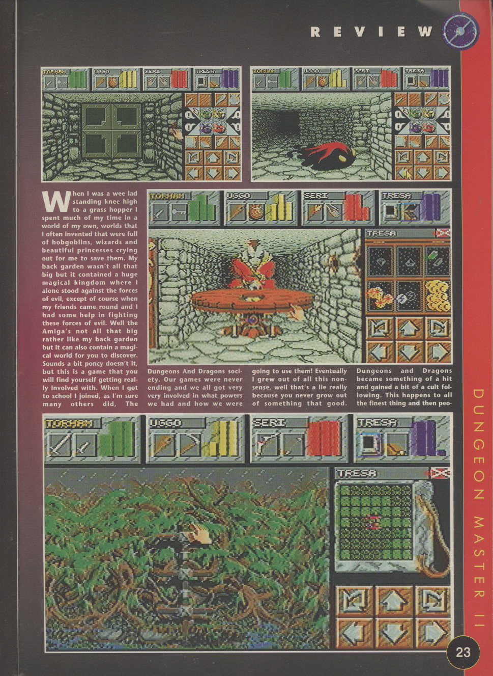 Dungeon Master II for Amiga Review published in British magazine 'The One Amiga', Issue #85 November 1995, Page 23