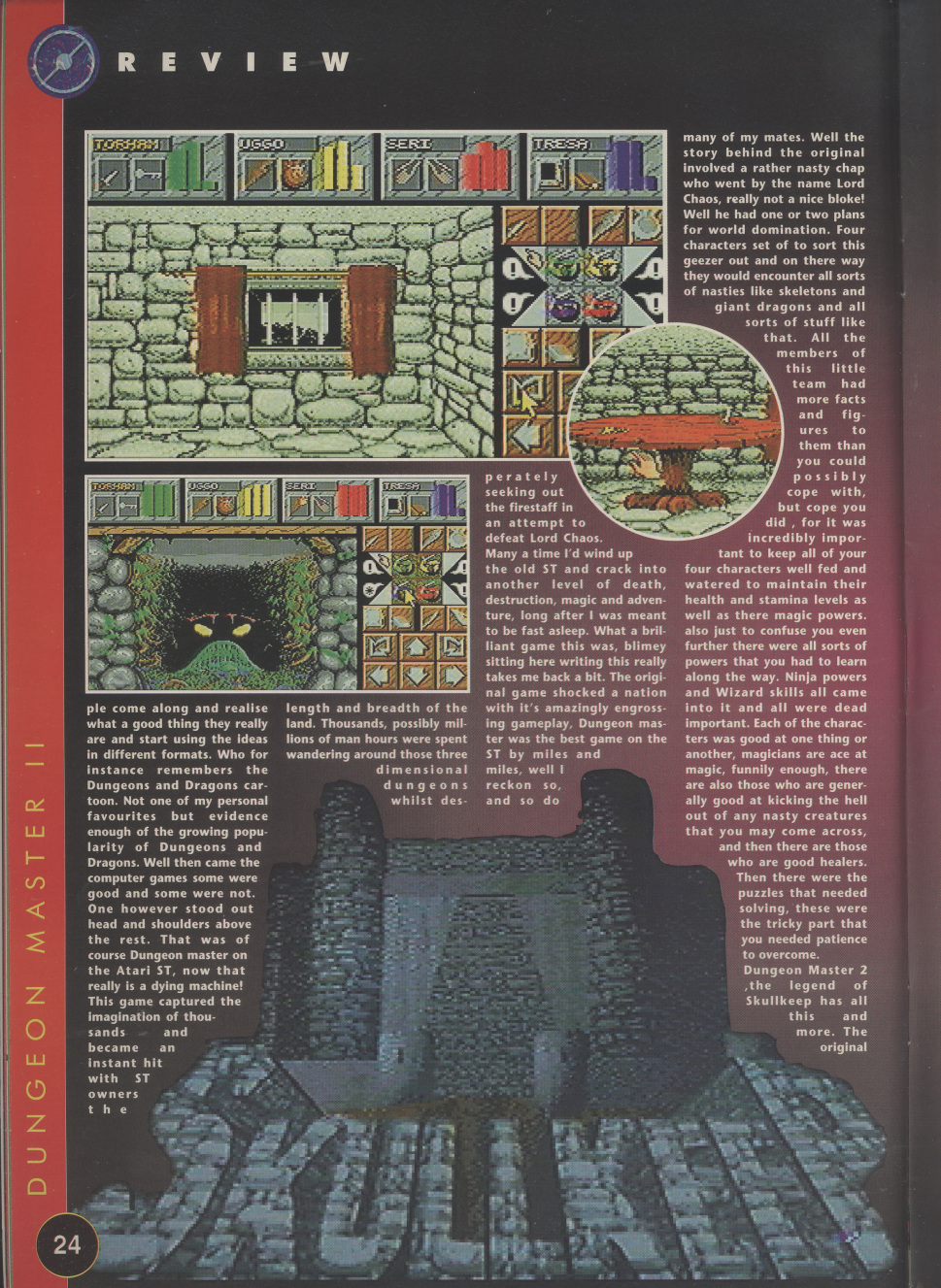 Dungeon Master II for Amiga Review published in British magazine 'The One Amiga', Issue #85 November 1995, Page 24