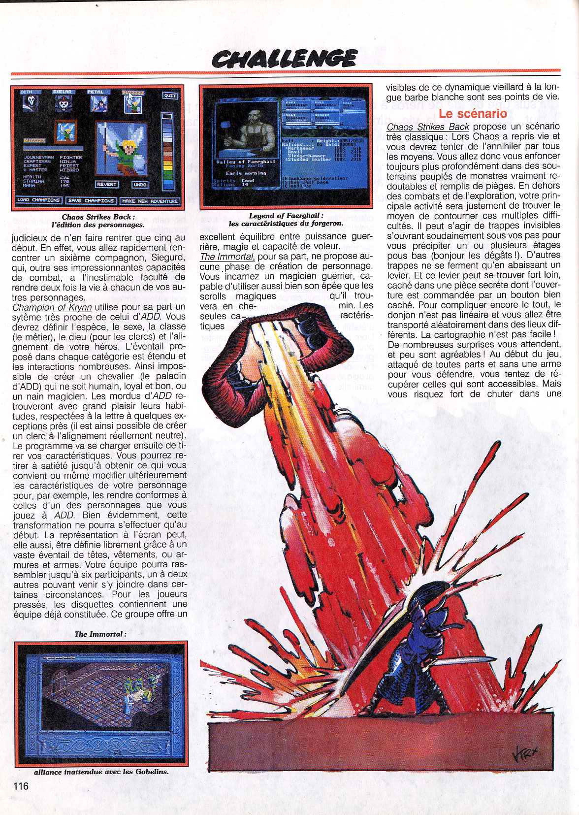 Chaos Strikes Back Article published in French magazine 'Tilt', Issue #83 November 1990, Page 116