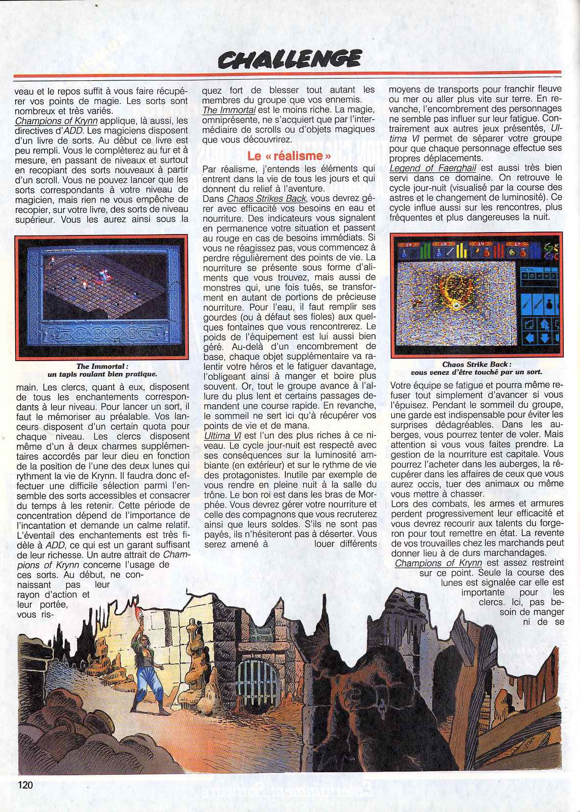 Chaos Strikes Back Article published in French magazine 'Tilt', Issue #83 November 1990, Page 120