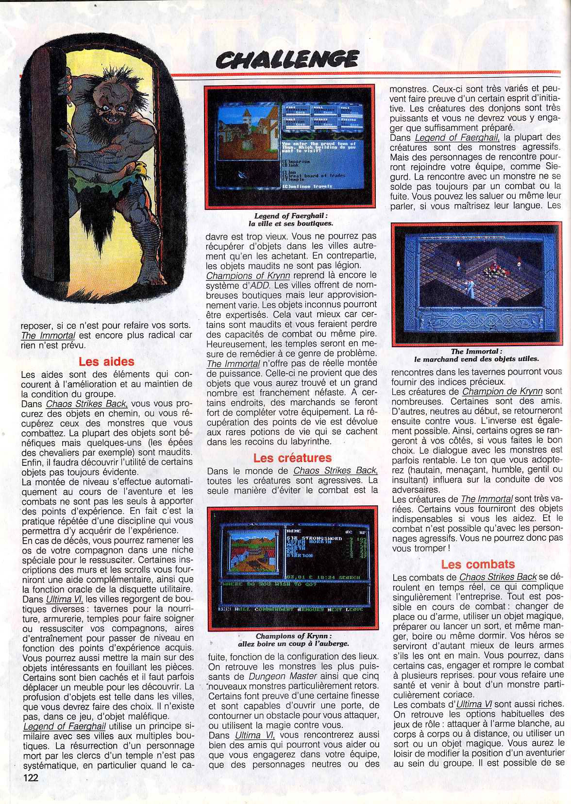 Chaos Strikes Back Article published in French magazine 'Tilt', Issue #83 November 1990, Page 122