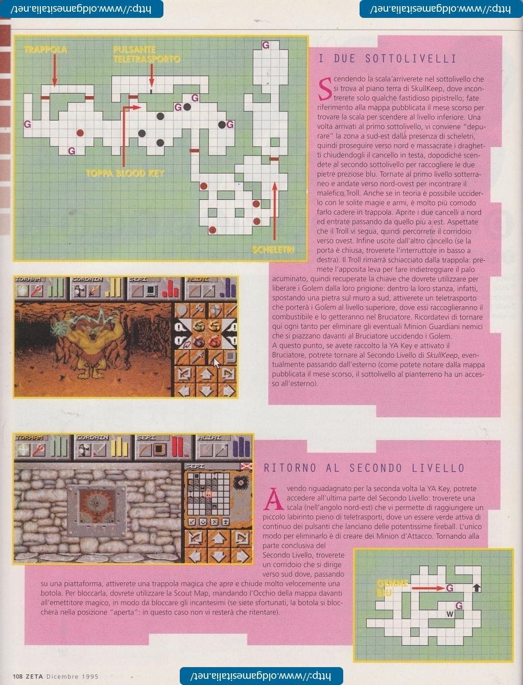 Dungeon Master II Guide published in Italian magazine 'Zeta', Issue #10 December 1995, Page 108
