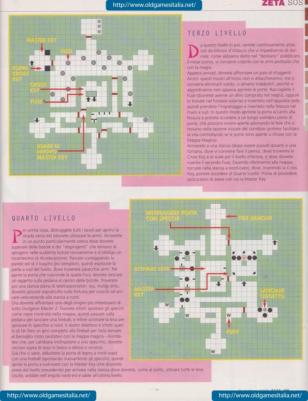 Dungeon Master II Guide published in Italian magazine 'Zeta', Issue #10 December 1995, Page 109