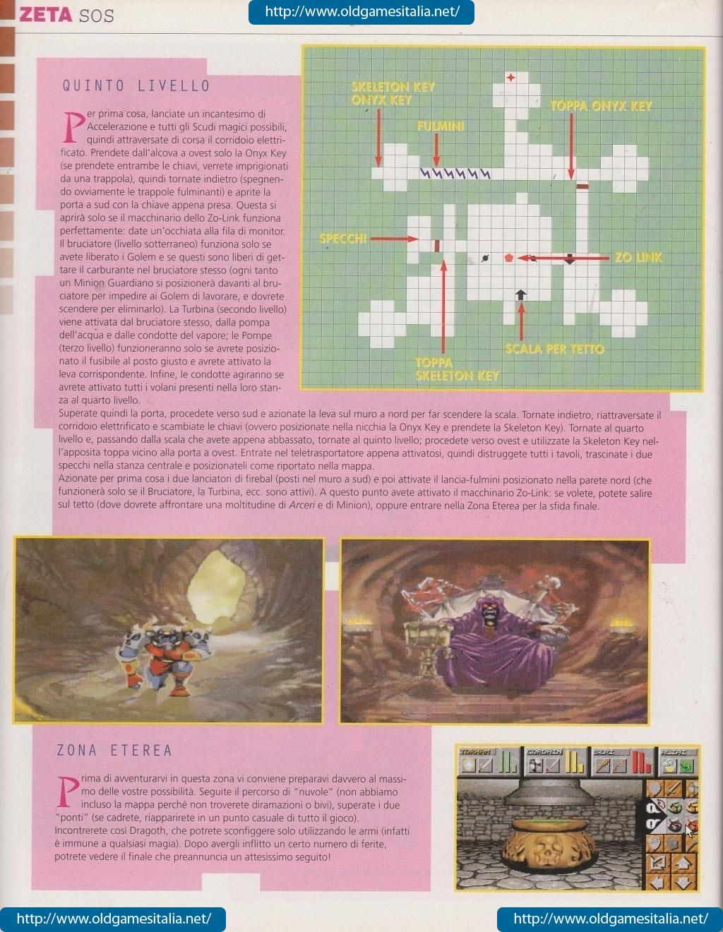 Dungeon Master II Guide published in Italian magazine 'Zeta', Issue #10 December 1995, Page 110