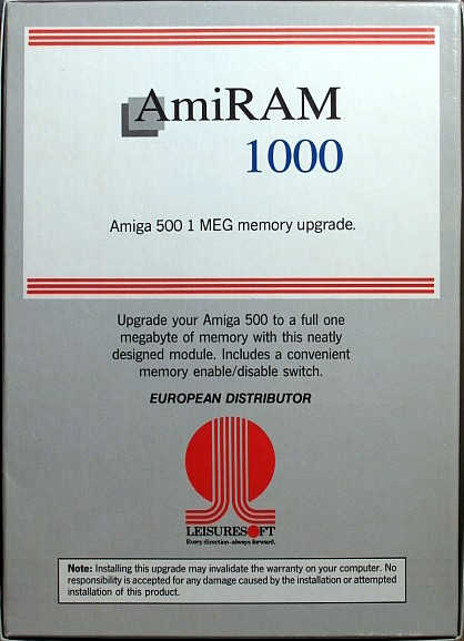 Memory Card - AmiRAM 1000 - EU - Amiga - TecnoPlus With Clock DM - Box - Back - Scan