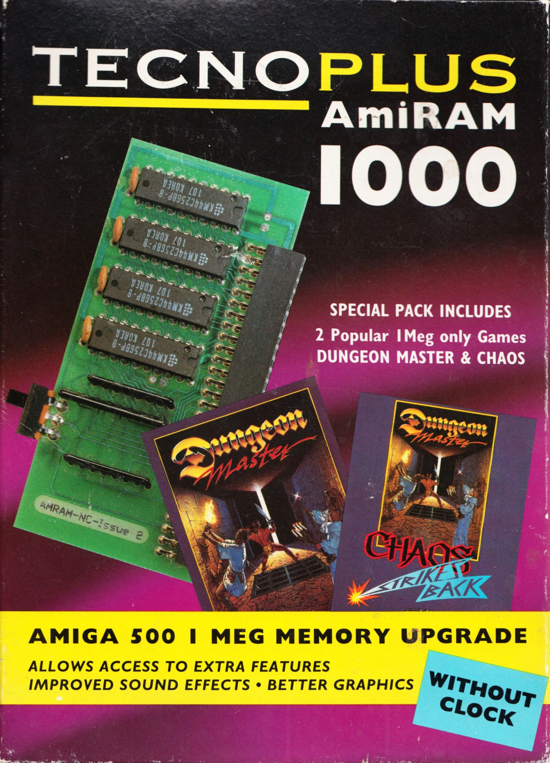 Memory Card - AmiRAM 1000 - EU - Amiga - Without Clock DM CSB - Box - Front - Scan