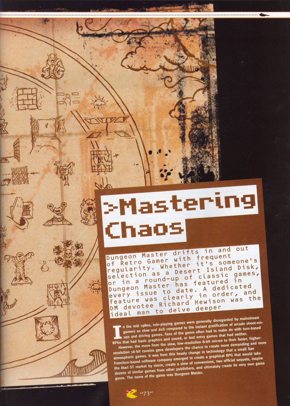An article titled 'Mastering Chaos', printed in issue 10 of 'Retro Gamer' and written by Richard Hewison Page 02