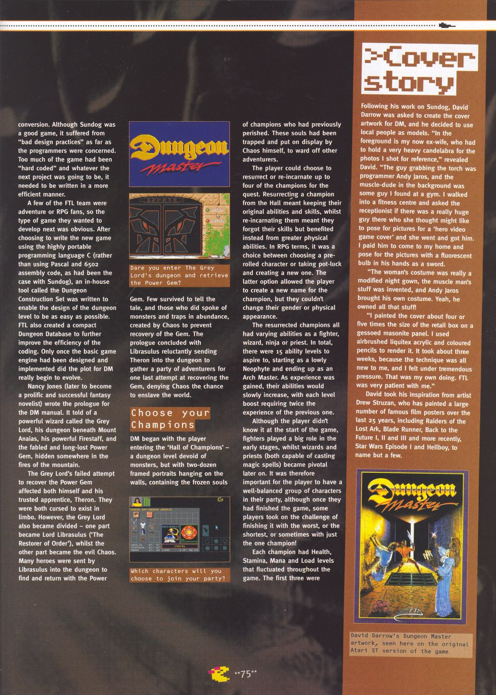 An article titled 'Mastering Chaos', printed in issue 10 of 'Retro Gamer' and written by Richard Hewison Page 04