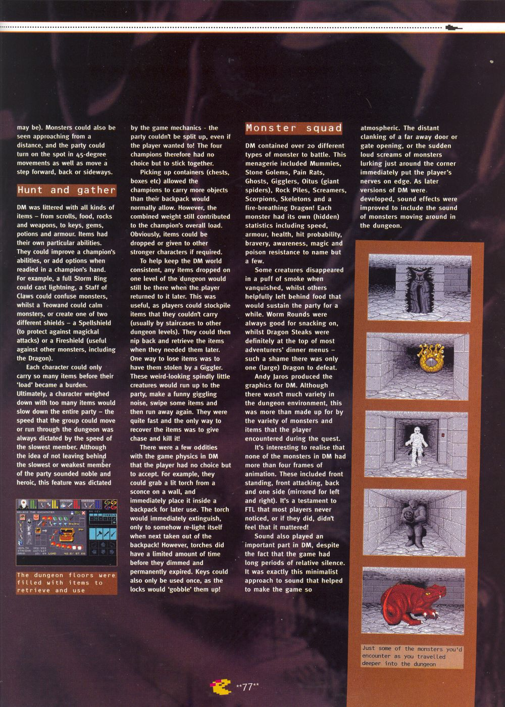 An article titled 'Mastering Chaos', printed in issue 10 of 'Retro Gamer' and written by Richard Hewison Page 06